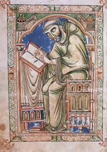 Manuscript of scribe from renaissance period book